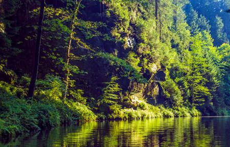 czech switzerland: View of lake at Czech, Switzerland Archivio Fotografico