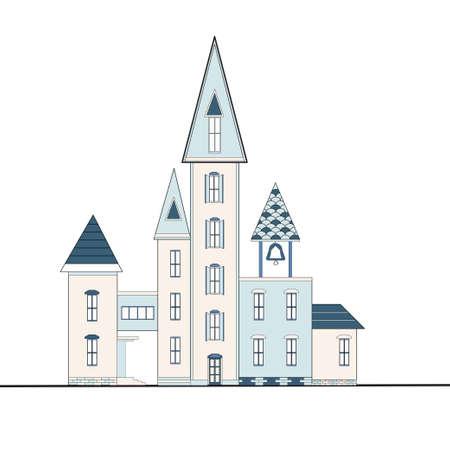 case colorate: Fantastica città con case colorate Vettoriali