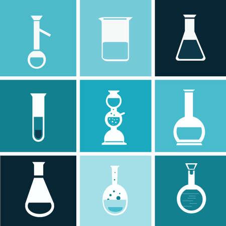 forensics: chemical  flat test tube  vector