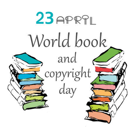 shakespeare: Vector illustration of  World Book and Copyright Day. 23 april