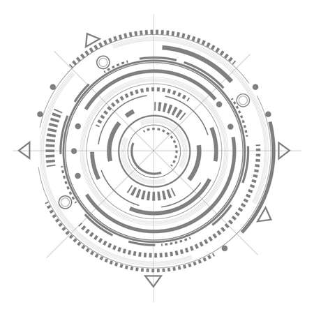 Technical drawing.Fantastic circle .Future Technologies.Vector illustration.