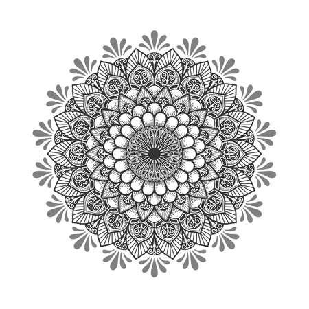 Mandala pattern.Ornament of flowers .Retro decor