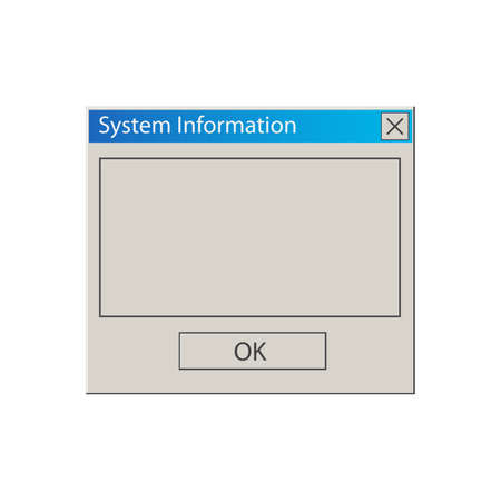 Operational Message. Classic computer window. Vintage User Interface. Vector Illustration.
