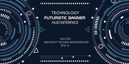 Technologies of the Future, Baner.Technical drawings .Round HUD Elements.