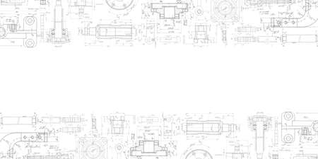 Mechanical Engineering drawing. Technical drawing background