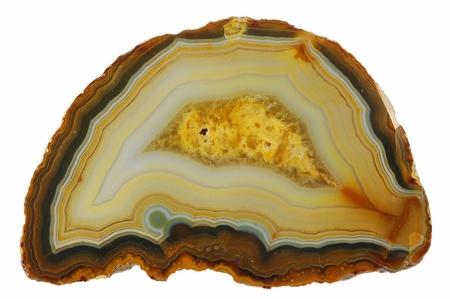 Mineral Achat auf wei�em Hintergrund. Lizenzfreie Bilder