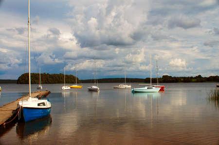The lake Plateliai in Lithuania. Stock Photo