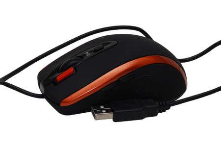 Schwarz Computer-Maus auf wei�em Hintergrund Lizenzfreie Bilder