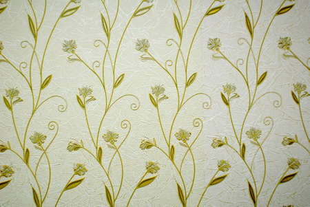 Background with floral motives in yellow-green color