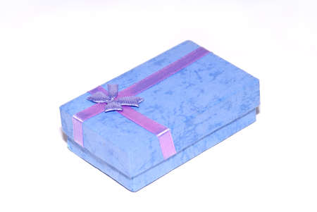 A box for a present isolated on a white background