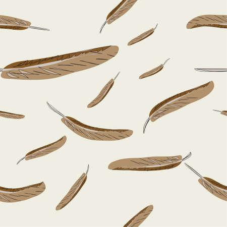 Vektor nahtlose abstrakten Hintergrund mit Federn Illustration