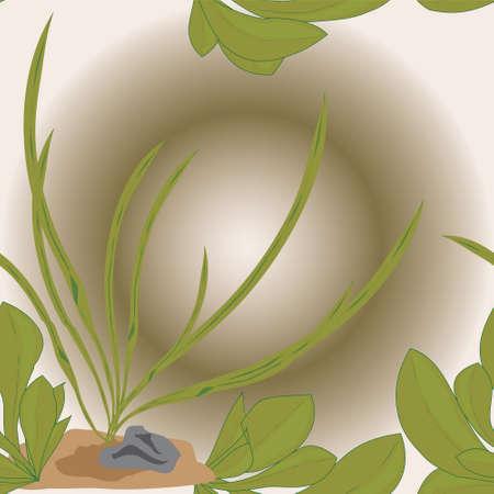 Zusammenfassung nahtlose Textur mit Unterwasserpflanzen