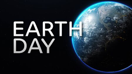 Earth day ecological movement against climate change symbol. World globe 3d