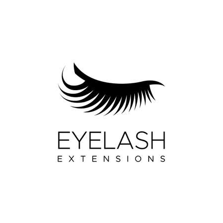 Eyelash extension logo. Vector illustration in a modern style