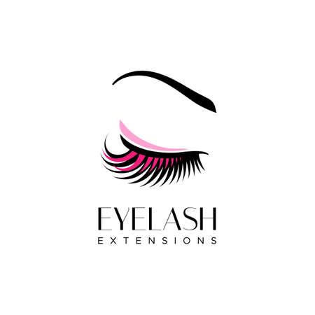 Wimper extensie logo. Vectorillustratie in een moderne stijl Stock Illustratie