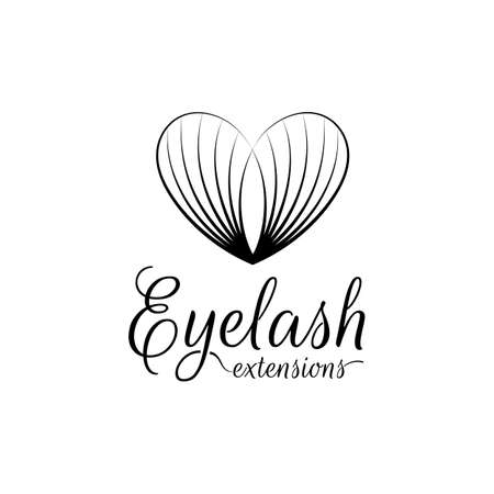 Eyelash extension icon. Vector illustration in a modern style