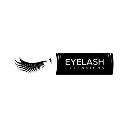 Eyelash extension Vector illustration in a modern style Illustration
