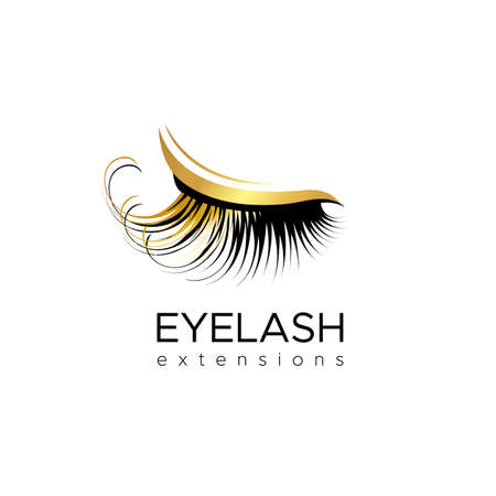 Eyelash extension logo. Vector illustration in a modern style 版權商用圖片 - 96285067