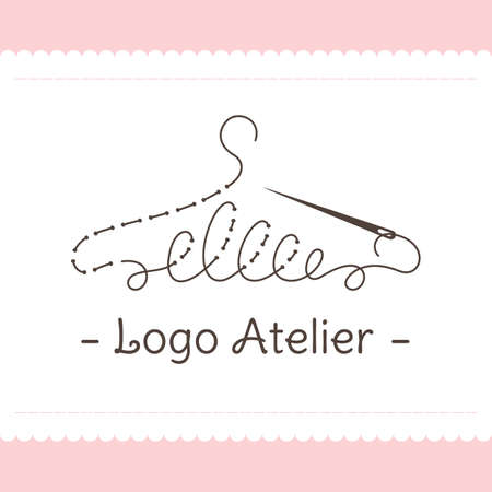 A Logo for Atelier, wedding boutique, women's clothing store. Vector template of the brand.