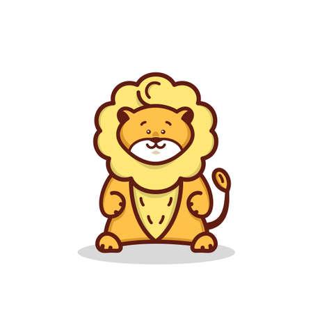 Cartoon little lion Illustration