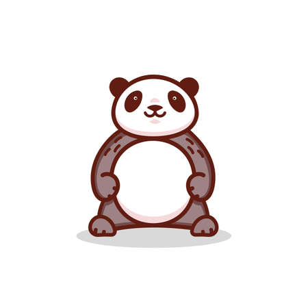 Fat cartoon Panda