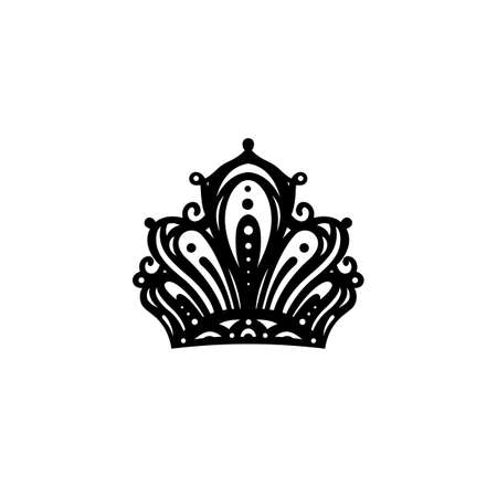 Black silhouette of a crown