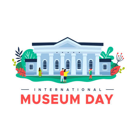 Vector illustration of International Museum Day