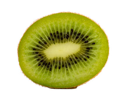 kiwi fruit isolated on white background. Juicy kiwi