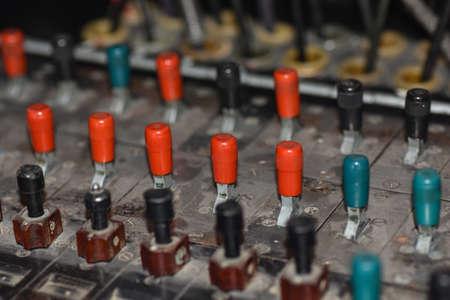 Old Soviet manual switch for telephone Standard-Bild