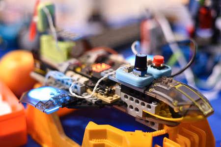 Flying robot designer from children details.
