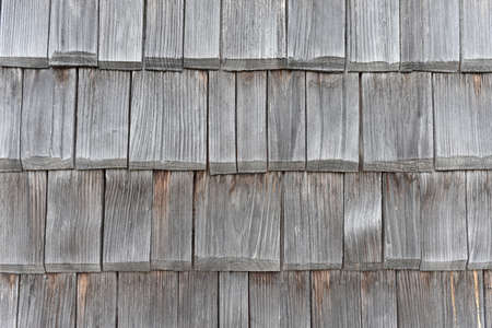 Old wooden roof tiles, texture, black and white.