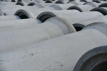Reinforced concrete pipes of large diameter for communications.