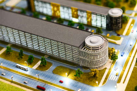 Miniature model of a modern green city. Фото со стока - 138039332