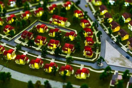 Miniature model of a modern green city. Фото со стока - 138039333