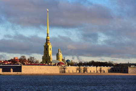 Peter and Paul Fortress in Saint Petersburg. Фото со стока - 138039433