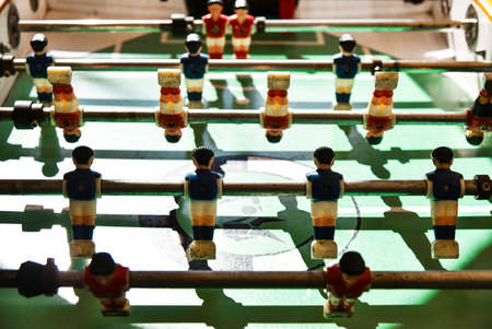 Old table football in the game room.