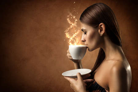 Coffee magic Stock Photo