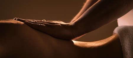Massage Nahaufnahme mit Händen professionellen Masseur