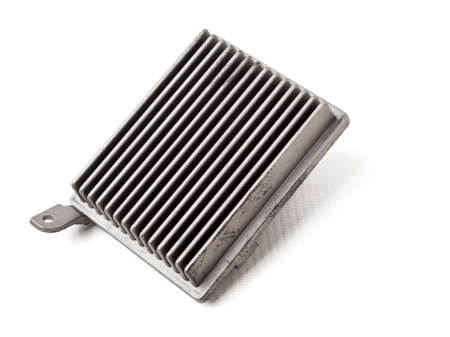 Car heater fan speed regulator on white isolated background. Catalog of spare parts for vehicles. 写真素材