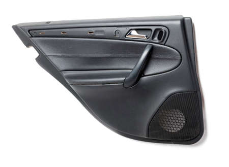 Car door trim with black leather upholstery on a white isolated background for repair and replacement in a car service. Spare parts catalog. Stock fotó - 167330596