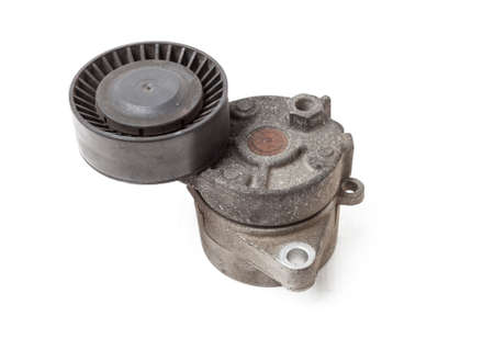 V-belt tensioner for attachments of an internal combustion engine of a car. Used auto parts catalog