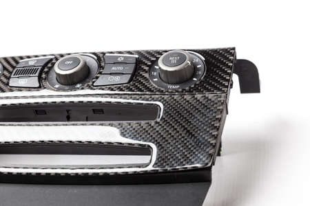 Carbon fiber composite product of car interior dashboard for motor sport and automotive racing. 写真素材