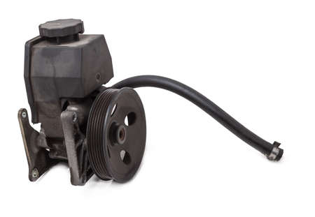 Vane pump or hydraulic power steering pump on a white background engine parts. Spare parts auto catalog. Stock fotó