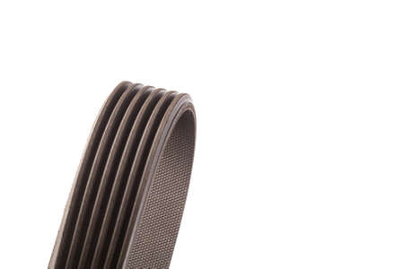 Belt drive, A mechanism in which power is transmitted by a continuous flexible belt. V-ribbed belt.