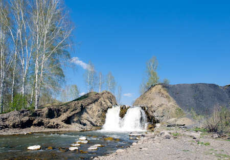 novosibirsk: Falls in the village of Belovo in the city of Novosibirsk