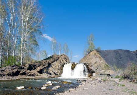 novosibirsk: Falls in the village of Belovo in the city of Novosibirsk