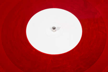analog: Red analog vinyl disc