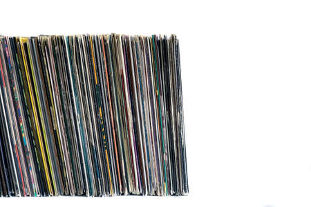 vinyl records: Vinyl records on a white isolated background Stock Photo