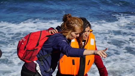 Flüchtlinge aus dem neu eingetroffenen Boote Editorial
