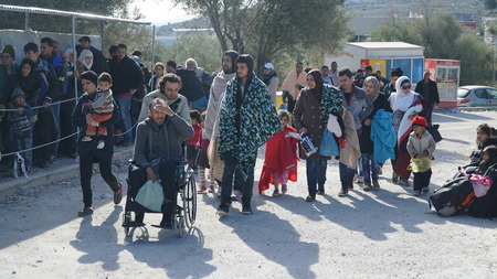 Refugees in the camp